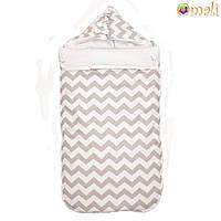 Конверт для новорожденного «Малыш » Omali (серый зигзаг)
