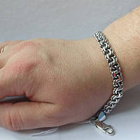 Браслет серебряный мужской, бисмарк тяжелый, 27.4 гр, 220мм