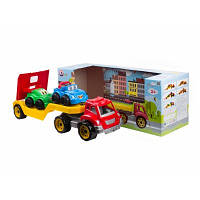 Машина игрушечная Автовоз с набором машинок, Трейлер 3909 ТехноК