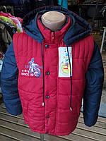 """Стильная куртка жилетка Тимур ТМ """"Люксик"""" для мальчика (рост 134-152)"""