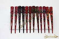 Заколка стрела для волос металлическая, длина: 13 см, 12 штук в упаковке