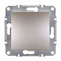Выключатель одноклавишный кнопка Schneider-Electric Asfora EPH0700169 бронза