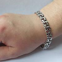 Браслет мужской серебряный, 28.4 грамм, 220 мм