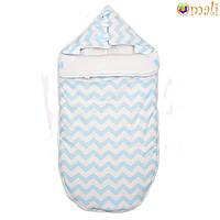 Конверт для новорожденного «Малыш» Omali (голубой зигзаг)
