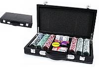 Покерный набор 300 фишек в кожанном кейсе.