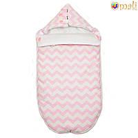 Конверт для новорожденного «Малыш » Omali (розовый зигзаг)