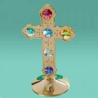 """Стутаетка """"Крест"""" большой 13 см с цветными кристаллами Сваровски. Очень красивый!"""
