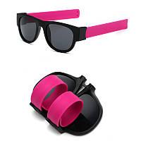 Спортивные солнцезащитные очки - браслет (трансформер), Унисекс Розвый