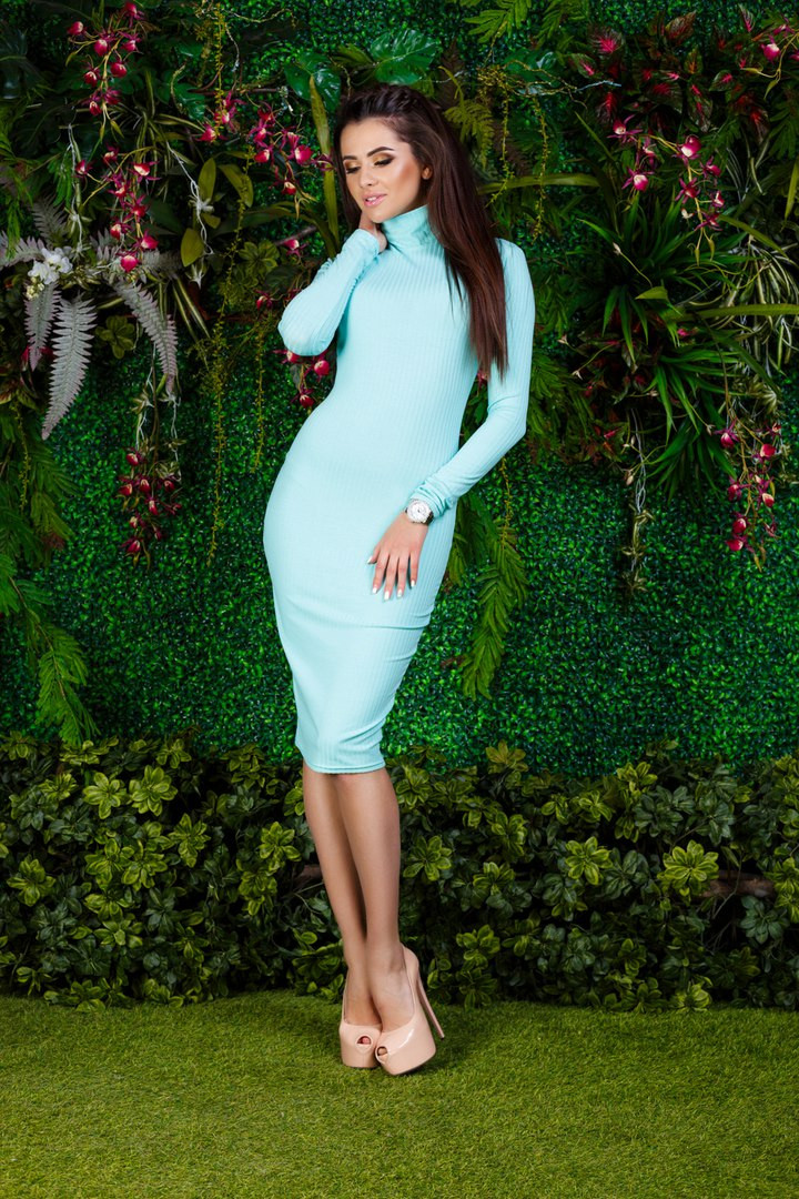 Женское силуэтное платье в расцветках. Бк-3-0317