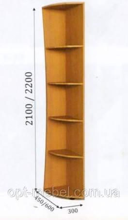 Консоль радиусная 300/600/2200