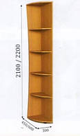 Консоль радиусная 300/450/2200