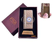 """USB зажигалка в подарочной упаковке с фонариком + фонарик с ультрафиолетом """"Mersedes-Benz"""" (Спираль ) 4828-2"""
