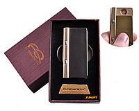 USB зажигалка в подарочной упаковке с фонариком + фонарик с ультрафиолетом (Спираль накаливания) №4828-1