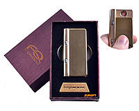 USB зажигалка в подарочной упаковке с фонариком + фонарик с ультрафиолетом (Спираль накаливания) №4828-4