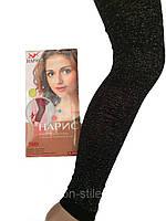 Женские капри «Нарис»70Den,цвет черный с серебром (Размер 50-60),купить оптом и в розницу
