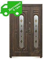Входная дверь 240 + (нестандарт 1200, витраж) (минеральная вата)