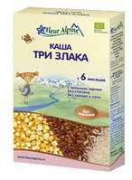 Детская каша Три злака, 175 гр., ТМ Fleur Alpine
