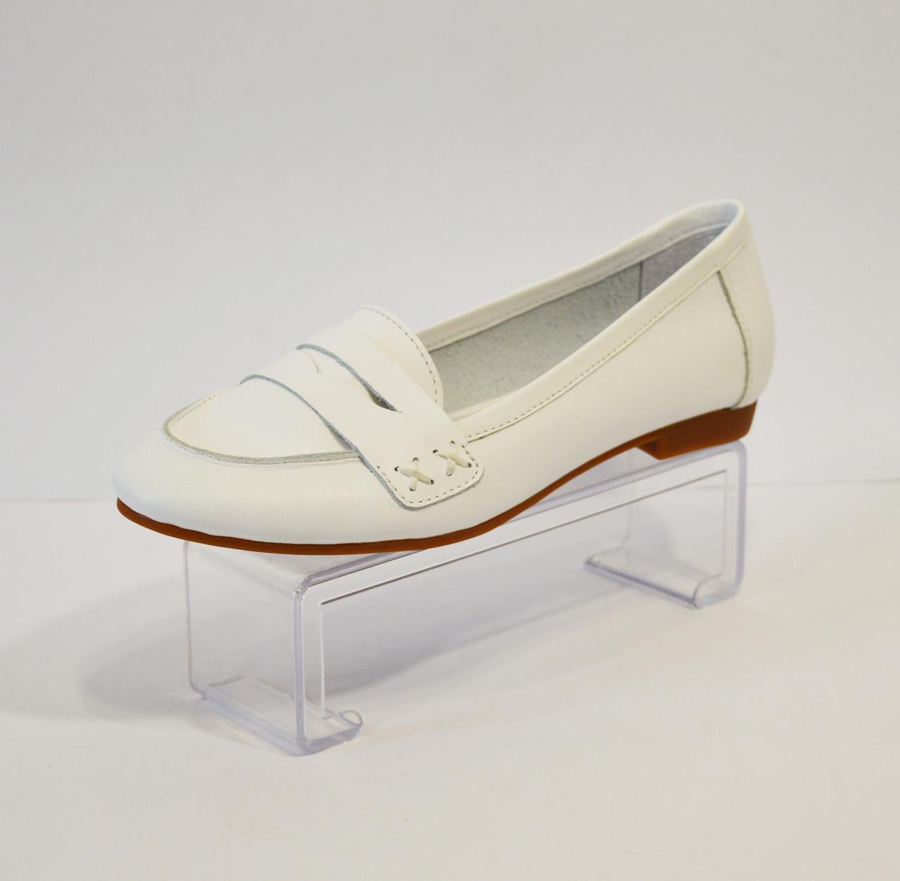 Белые женские балетки Selesta 01