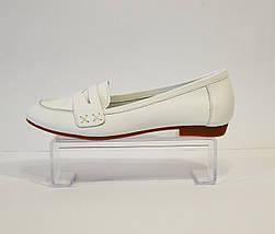 Белые женские балетки Selesta 01, фото 2