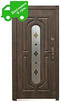 Входная дверь 240 + ( 960, витраж) (минеральная вата)