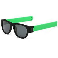 Спортивные солнцезащитные очки - браслет (трансформер), Унисекс Зелёный