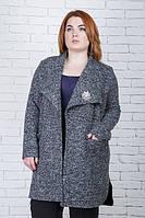 Жакет-пальто большого размера Лист, вязаный кардиган больших размеров