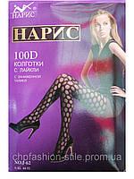 Женские колготки «Нарис»100Den,цвет малина,секси колготки