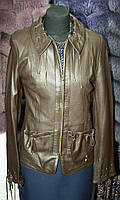 Кожаная куртка, натуральная, цвет - коричневый, фото 1