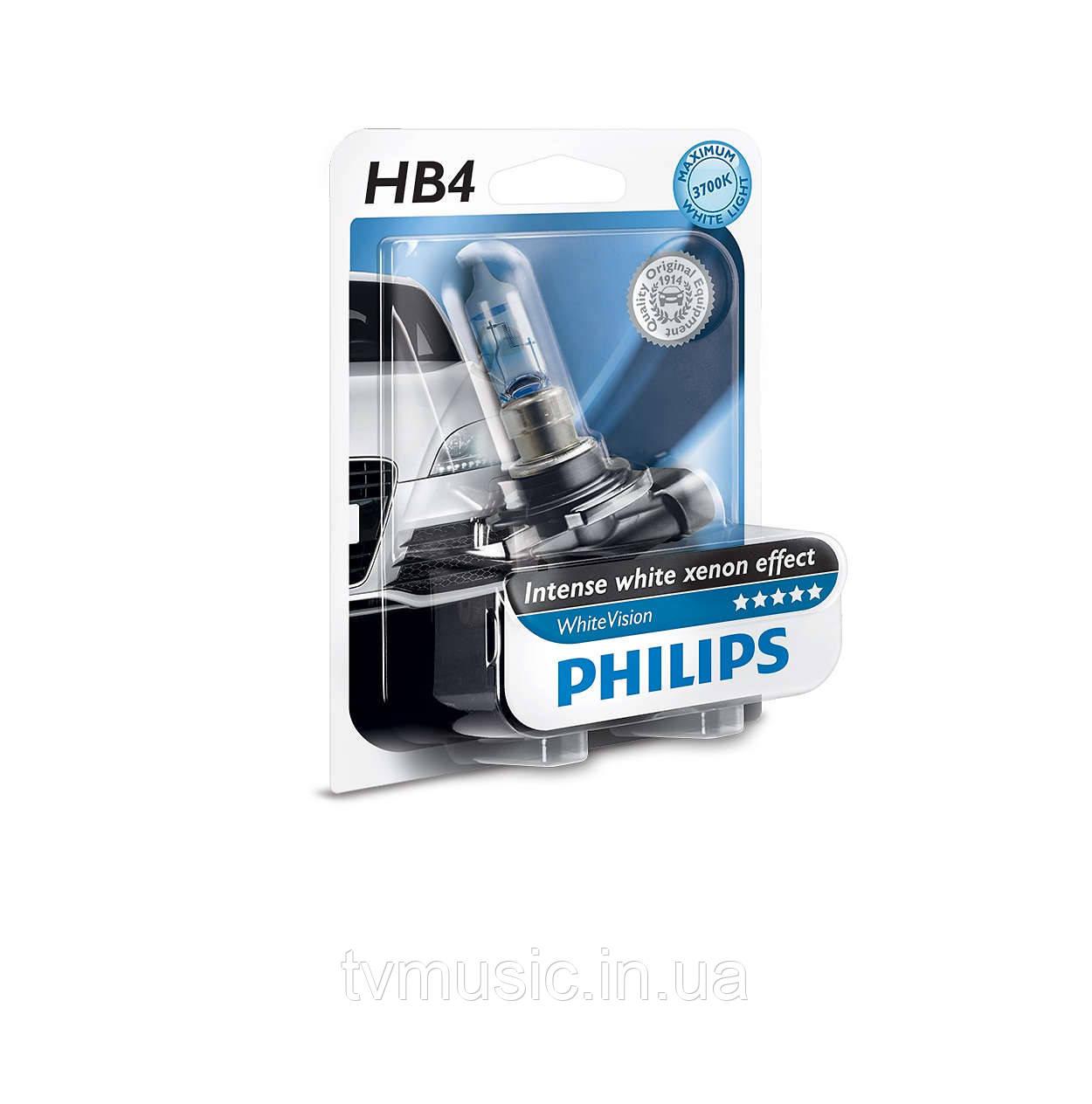 Галогенная лампа Philips White Vision HB4 (9006) 12V 55W (9006WHVB1)