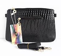 Небольшая сумочка - клатч с ремешком через плечо. Цвет черный.
