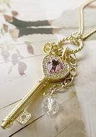Золотистый кулон - ключик G500004-1