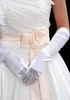Перчатки длинные белого цвета L7055-1