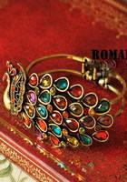 Оригинальный браслет с жар-птицей из камней G500069