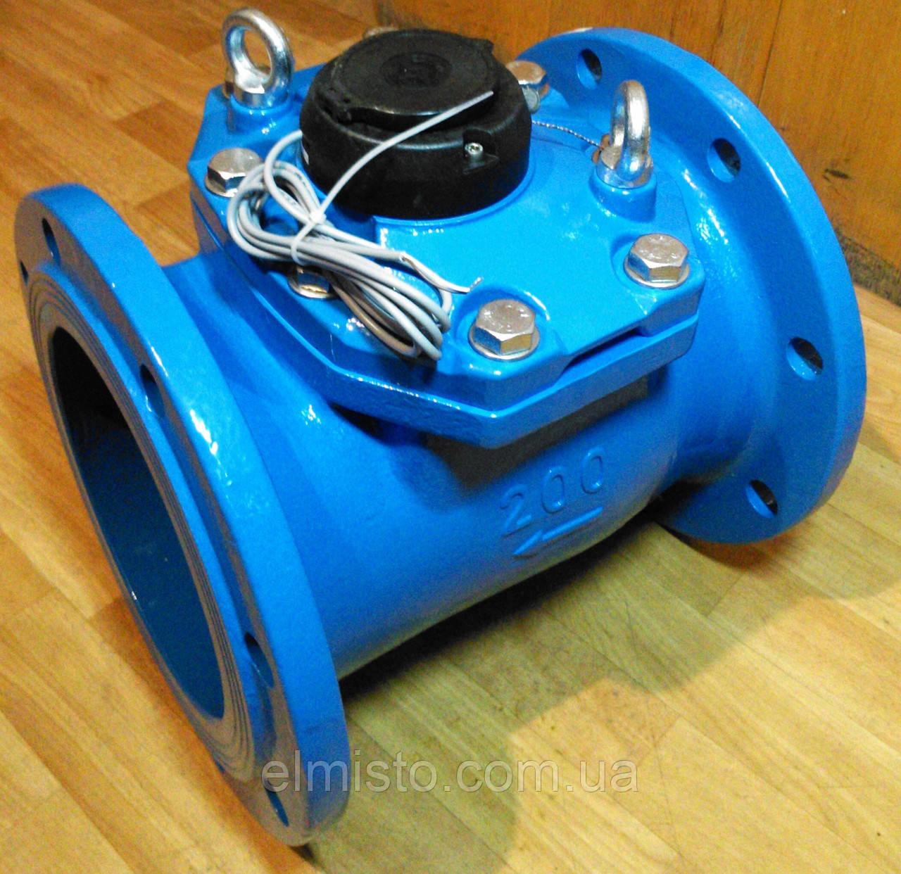Водосчетчик Apator PoWoGaz MWN-200-NK (ХВ) с импульсным выходом турбинный Ду-200 сухоход промышленный