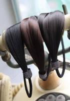 Резинка-прядь для волос коричневого цвета G500105