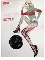 Женские колготки  NICOLE 40Den,цвет черный.(Размер 44-48)