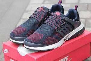 Мужские кроссовки Nike air presto,текстиль,сетка синие с красным 43,44р, фото 2
