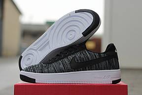 Летние мужские кроссовки( перфорация) Nike air Force серые 44, фото 3
