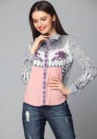 Рубашка Victoria Beckham в розово синих тонах KM70523
