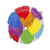 """Фольгированные воздушные шары Anagram США, модель А-21957-02, форма :круг """"Шарики"""", 18 дюймов/46 см, 1 штука"""