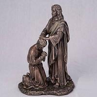 """Скульптура с бронзовым покрытием """"Всепрощающий Иисус"""" 20 см"""