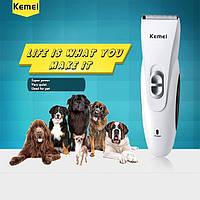 Машинка для стрижки животных Kemei 970 с керамическим ножом