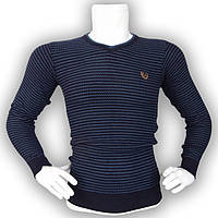 Мужской синий свитер - №2168