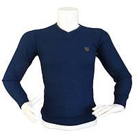 Стильный синий свитер - №2176