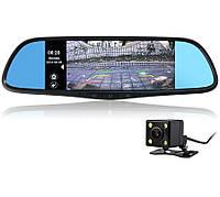 Зеркало заднего вида с двухканальным регистратором и монитором Prime-X 107 ANDROID