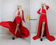 Женское нереально крутое платье с фурнитурой на поясе,2 цвета