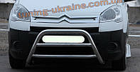 Защита переднего бампера кенгурятник из нержавейки на Toyota Land Cruiser 100 1998-2007