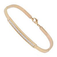 Золотой браслет с бриллиантами 0,50 карат
