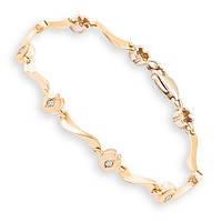 Золотой браслет с бриллиантами 0,20 карат