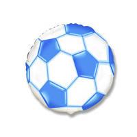 Фольгированные воздушные шары FLEXMETAL Испания, модель 402506, форма:круг-мини Футбольный Мяч, 9 дюймов/23 см